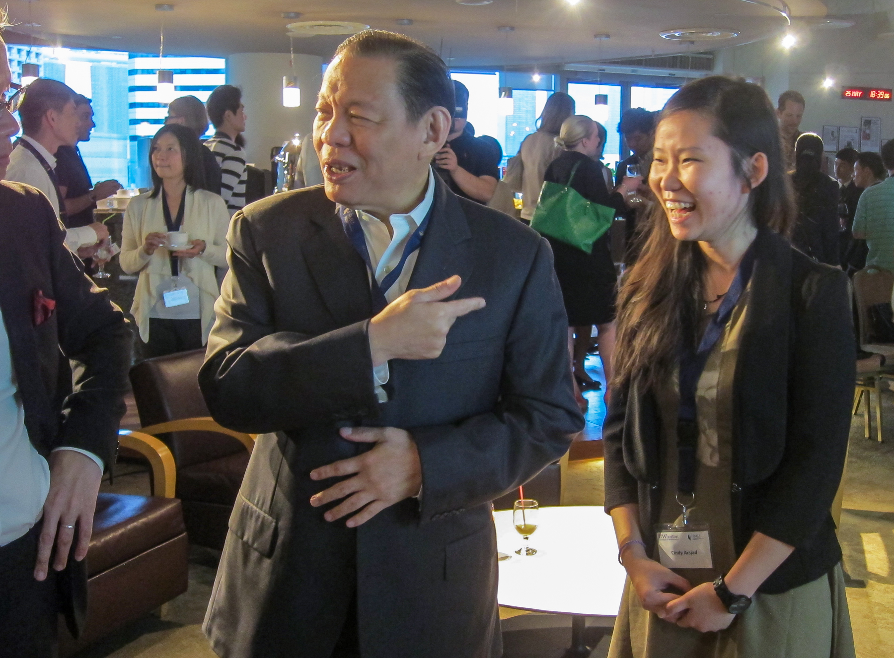 SMU Tanoto Foundation Scholar Cindy Pratiwi Arsjad with Mr Sukanto Tanoto