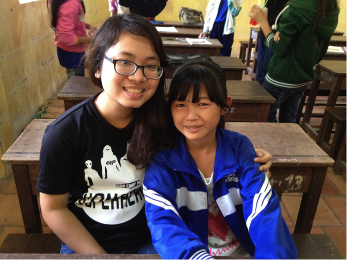 Picture with a student during my OCSP in Vietnam, December 2014