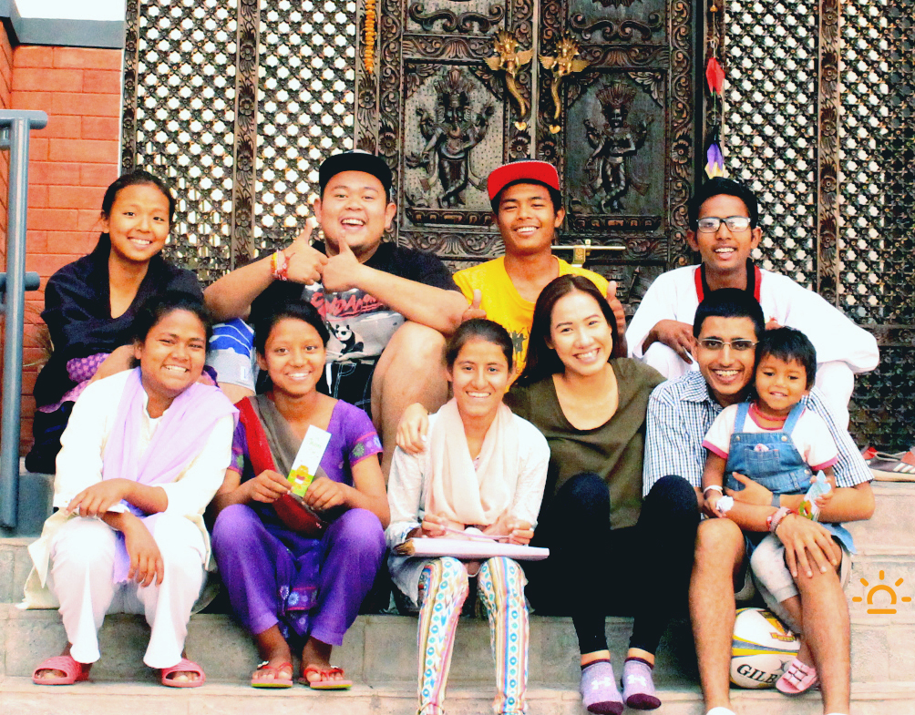Air Amber and Butterfly Books Team in Kathmandu
