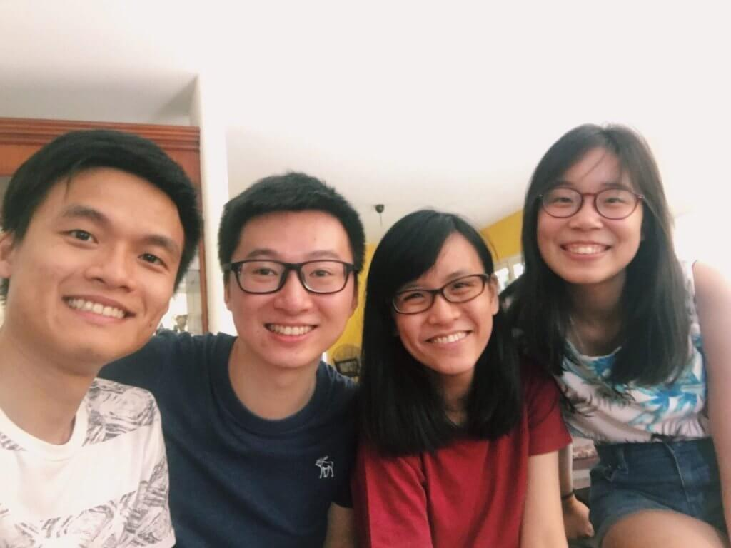 Surprise home visit from my lovely project group mates