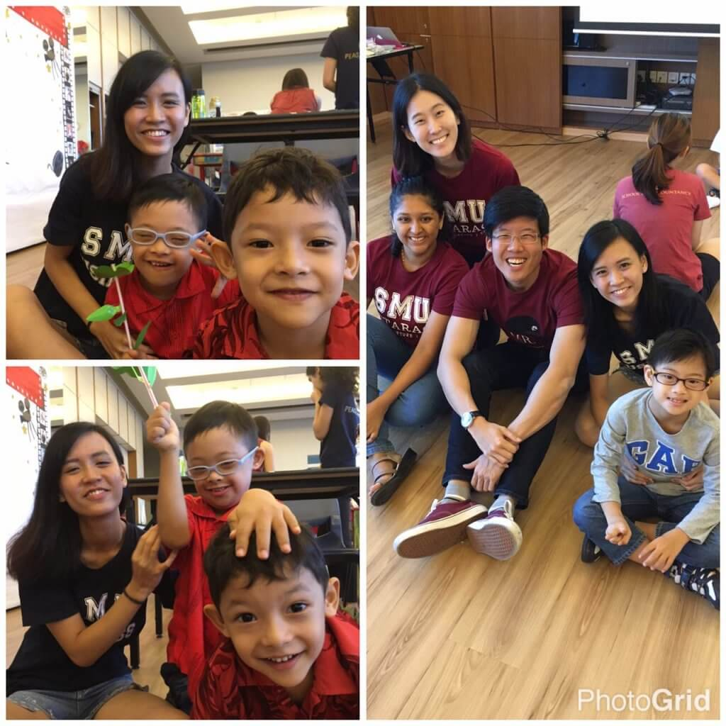 With the kiddos from Project Bloom