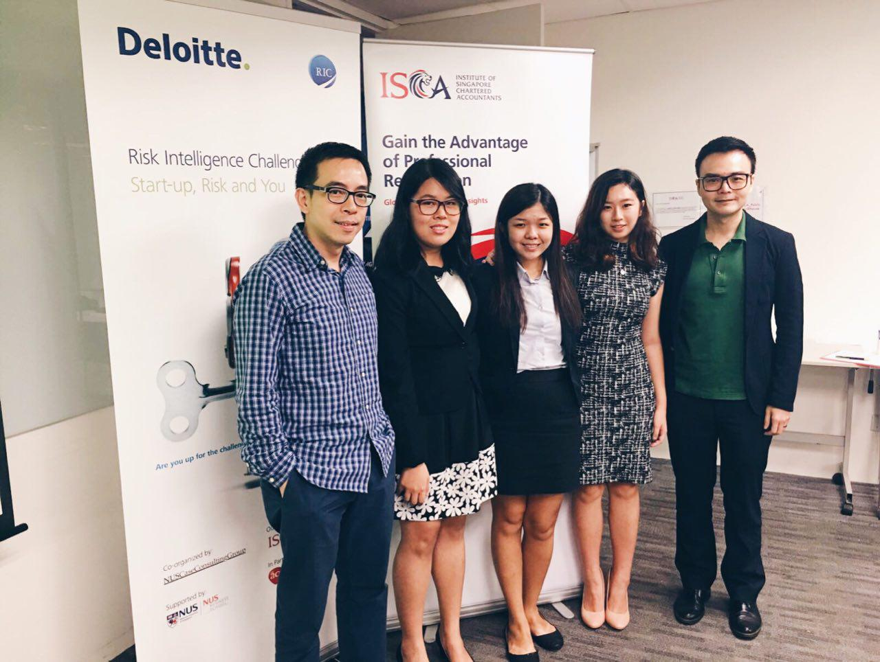 Grace and team at Deloitte's Risk Intelligence Challenge