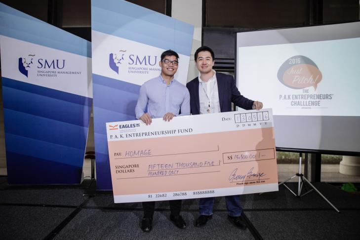 Team Homage was last year's biggest winner at the inaugural P.A.K Entrepreneurs' Challenge)