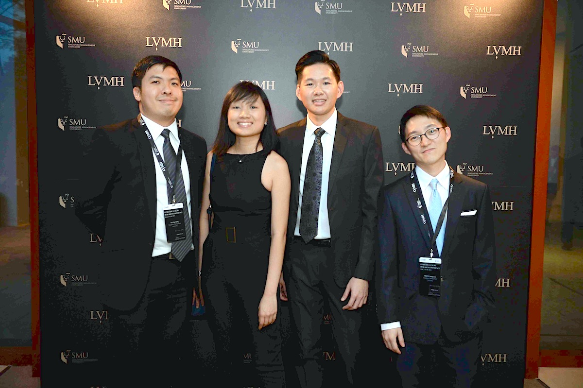 Leon Gim with her PhD colleagues at the LVMH-SMU Luxury Research Conference 2016