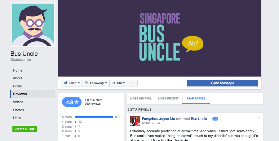 Bus Uncle FB Ratings