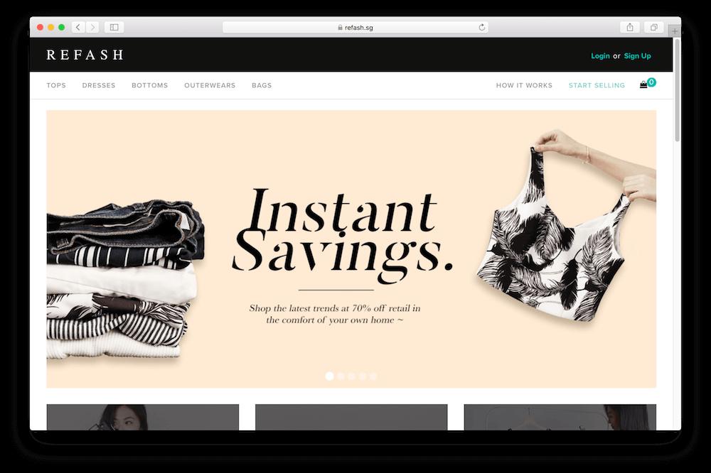 Refash online store
