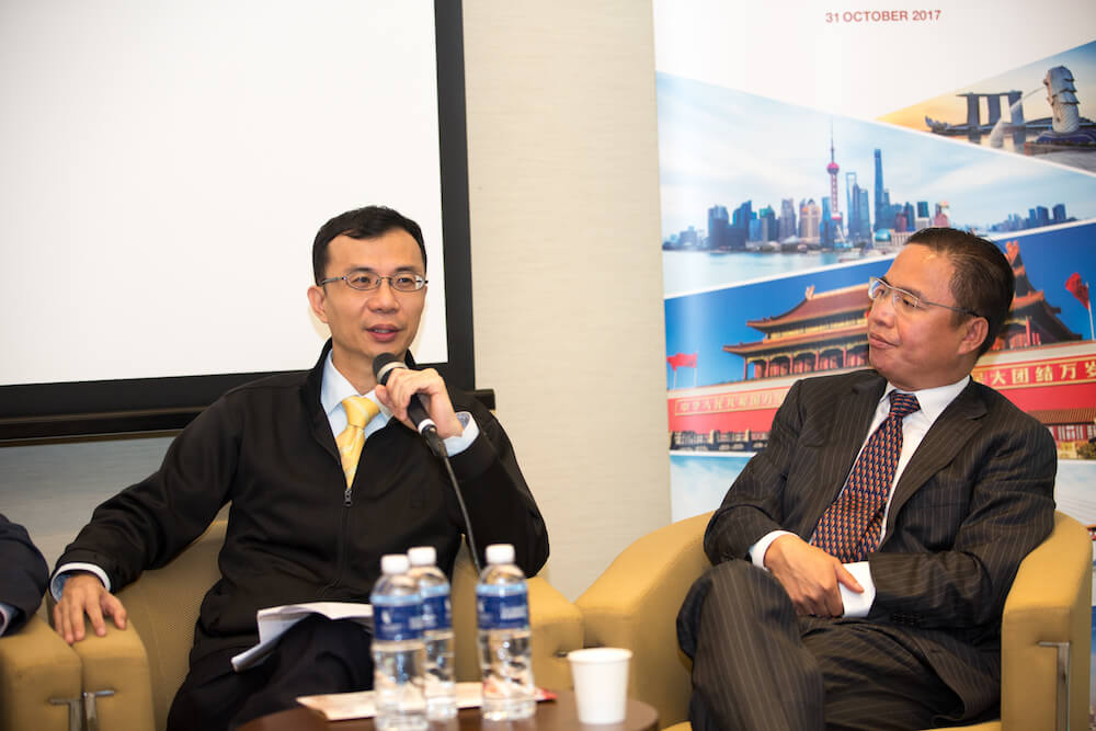Mr Law Chung Ming speaking