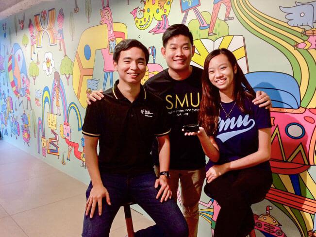 Thomas Thio, Bong Jun Hao and Claudia Foong