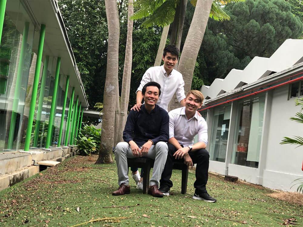 Tylor Jong, Nicholas Lim and Lau Jiacai