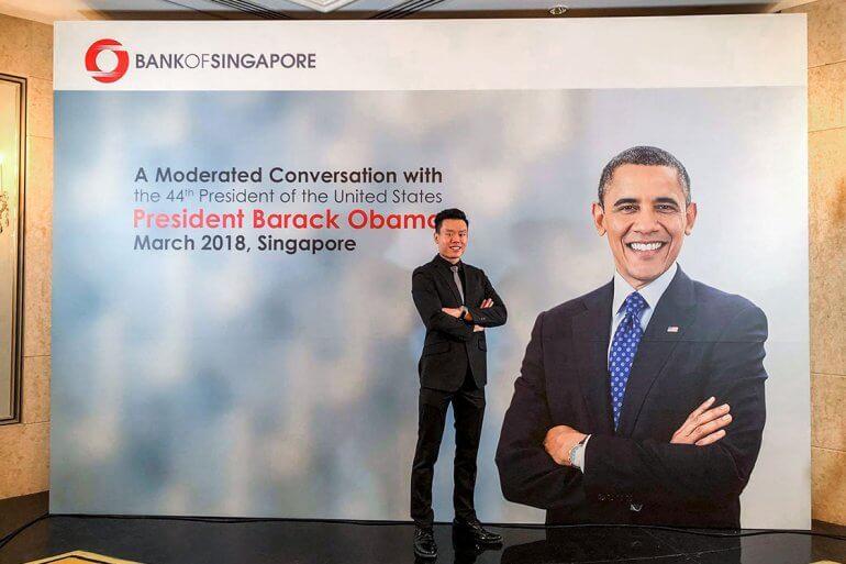 Tan Xin Hao at Barack Obama event