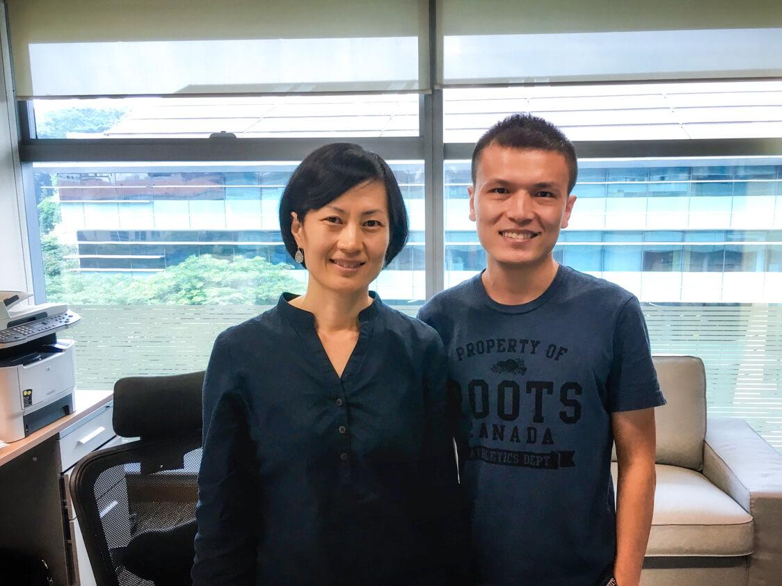 Tony Li and Prof Heli Wang