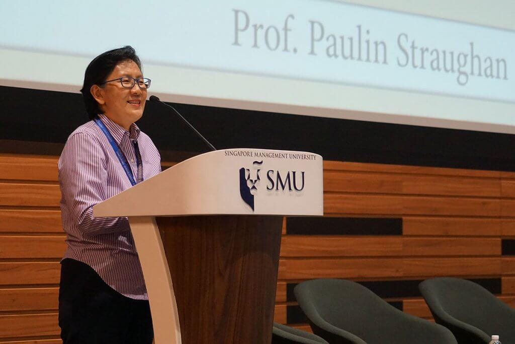 Prof Paulin Straughan at SMU Parents' Day 2017