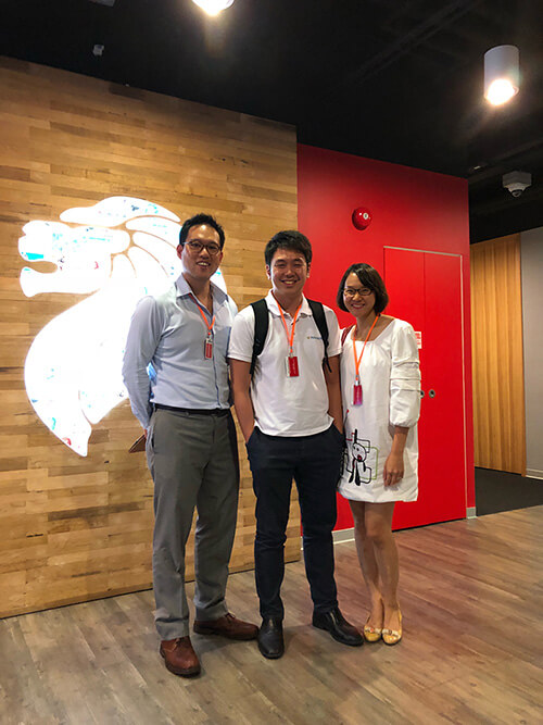 AdvocAid Team members Kenneth Goh, Tan En and Lisa Chong