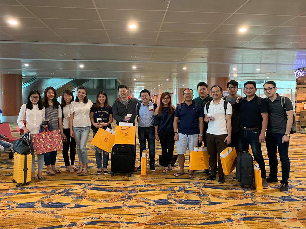 Myanmar Alumni Chapter members at Yangon International Airport