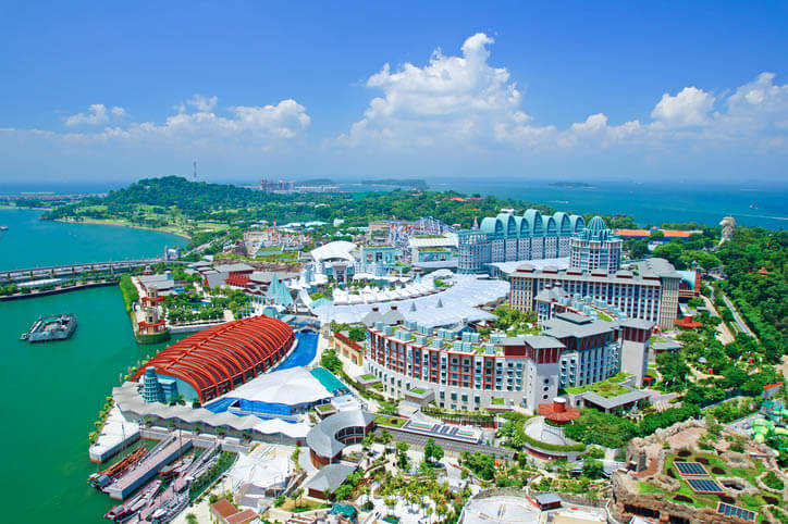 This is a view of Sentosa island in Singapore.