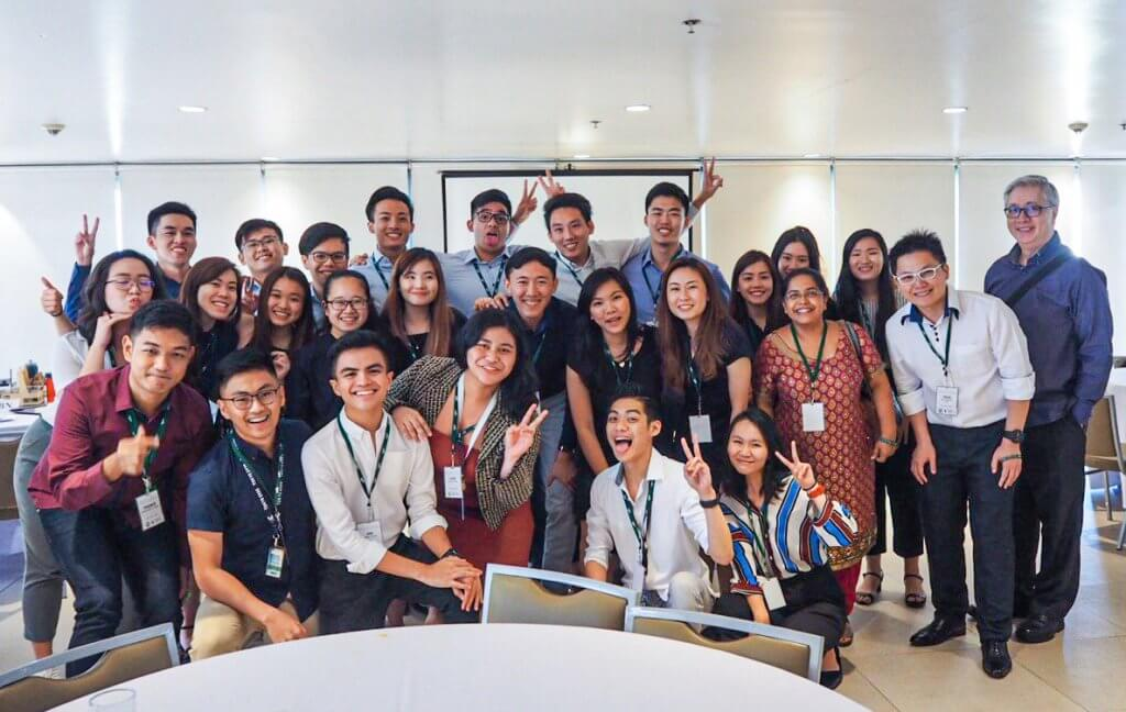 Group picture with the students of DLSU