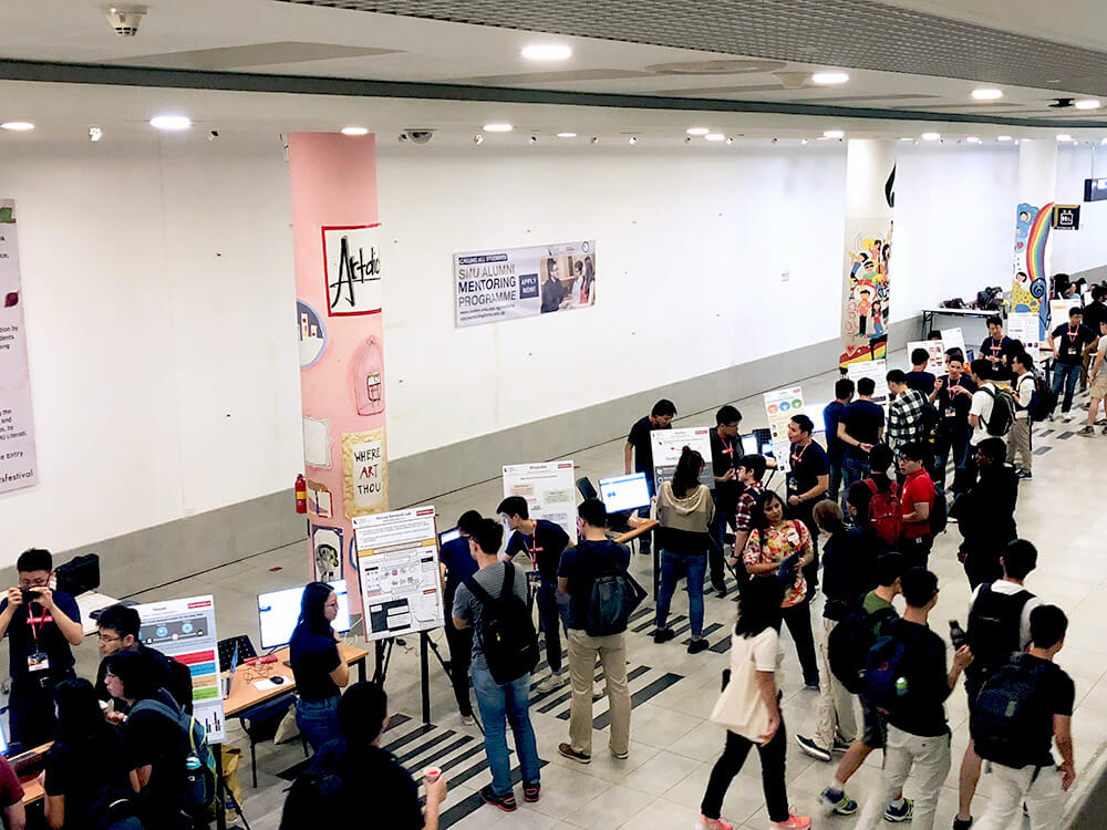 Participants at the Techfest 2019 Posters and Demonstrations Session
