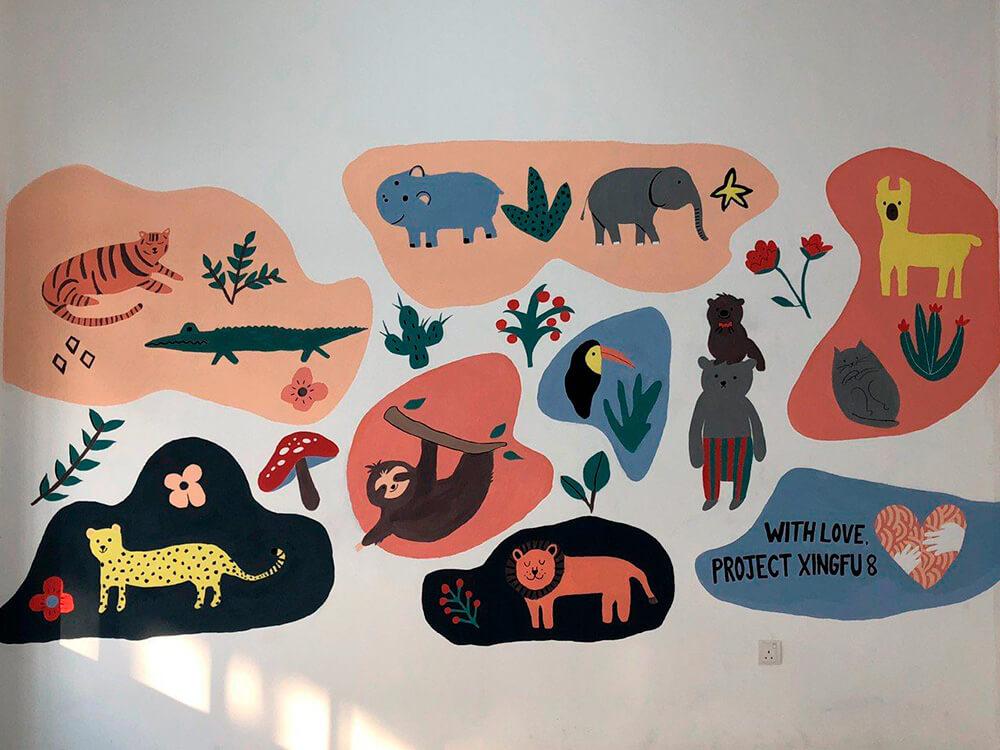 Murals painted