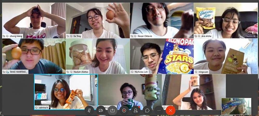 Screen-grab of freshmen performing their 'SMOO ration' challenge
