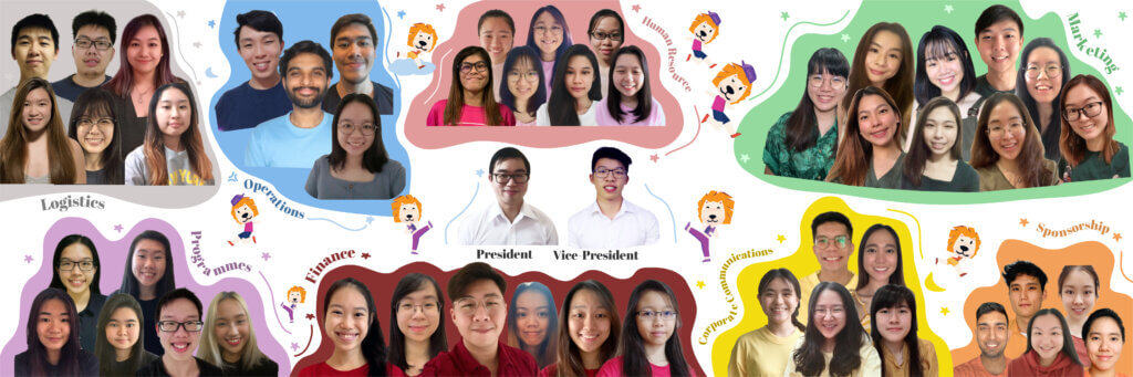 The SMU Challenge 2020 Organising Committee. Bao Shin is the committee's Vice-President.