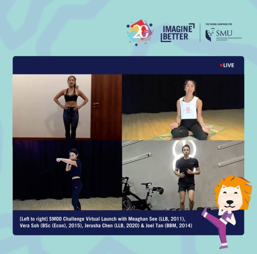 SMOO Challenge's virtual launch comprised a series of health and fitness workshops by SMU students and alumni