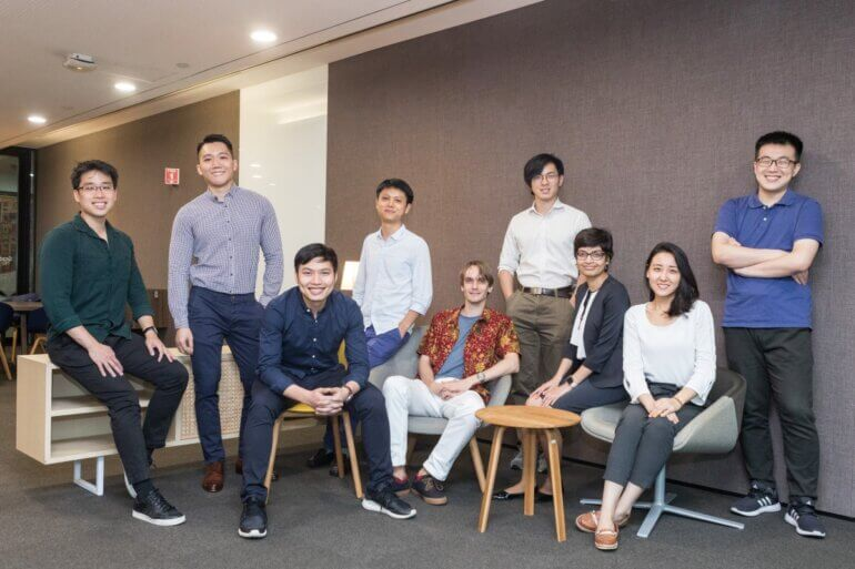 Brandon Koh (extreme left) with other 2018 SMU Presidential Doctoral Fellowship awardees