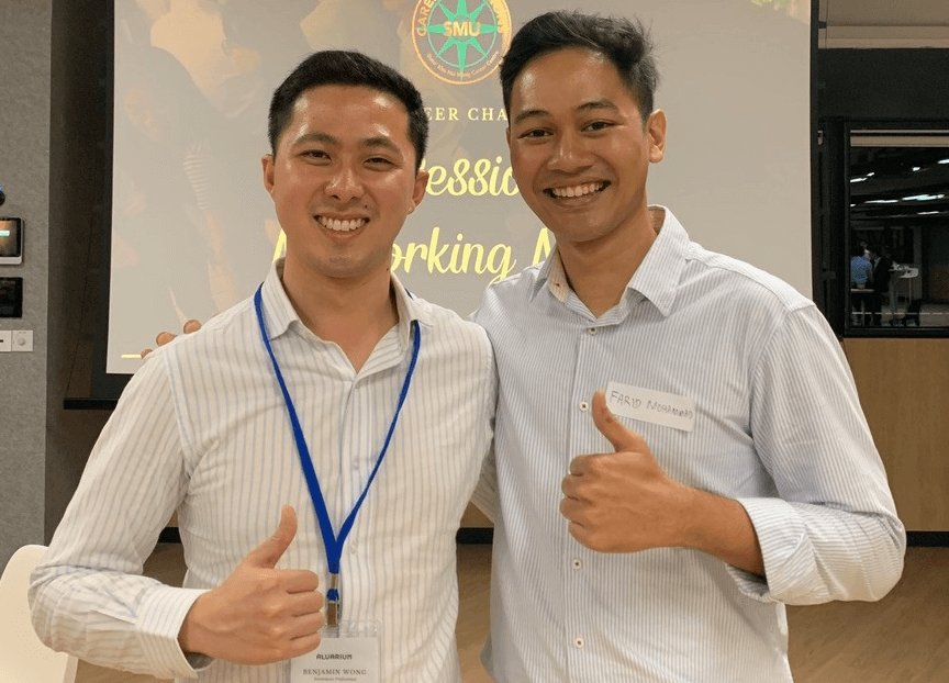 Farid (right) and Benjamin Wong, his mentor from Kinobi