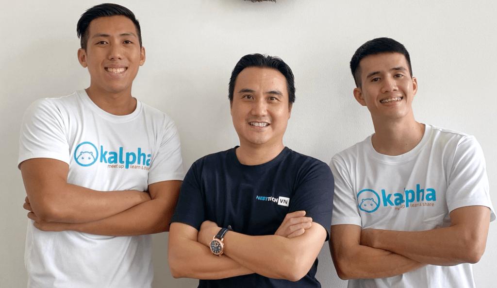 (From left) Kalpha co-founder Jaden, Nest Tech VN founder and managing partner Soe Moe Kyaw Oo, and Tri Nguyen
