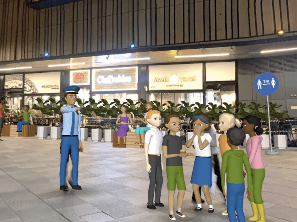 The team virtualised a S.A.F.E. framework using outdoor examples at Paya Lebar Central