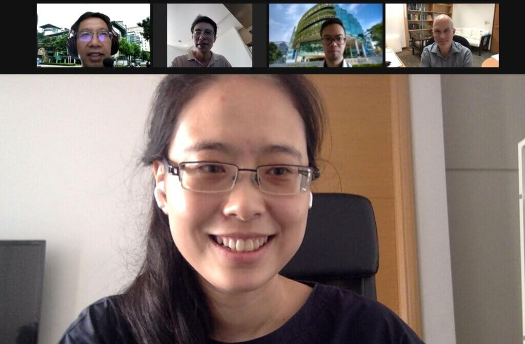 Xueying at her dissertation defence, 9 April 2021