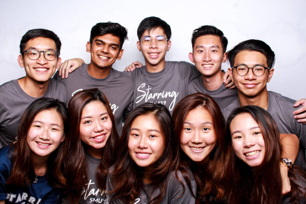 Anish (top, second from left) together with fellow facilitators at Starring Camp 2019